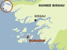 Bubaque island in the Bijagos archipelago in Guinea Bissau