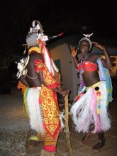 Traditional Bijagos dancers