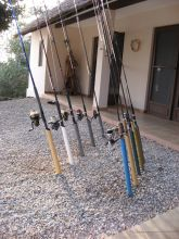 Some of our fishing equipment