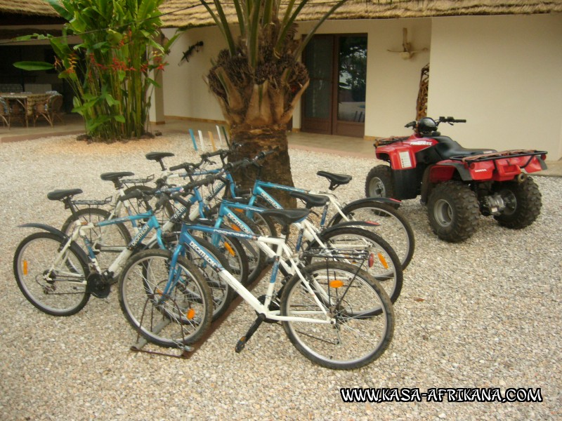 Photos Bijagos Island, Guinea Bissau : Hotel & outbuildings	 - ATV and quad bikes
