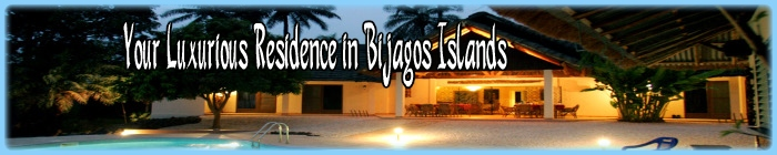 Luxurious accomodation on Bubaque island in the Bijagos, Guinea Bissau