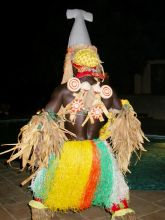 Bijagos traditional dancer